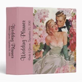Vintage Wedding Bride Groom Newlyweds Flowers Binder