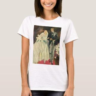 Vintage Wedding Bride Groom Newlyweds Just Married T-Shirt