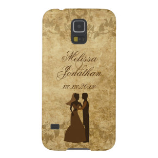 Vintage wedding Bride Groom Once upon a time Cases For Galaxy S5