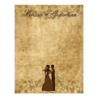 Vintage wedding Bride Groom Once upon a time Letterhead Template