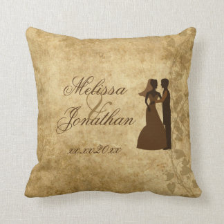 Vintage wedding Bride Groom Once upon a time Pillows