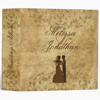 Vintage wedding Bride Groom Wedding album 3 Ring Binder