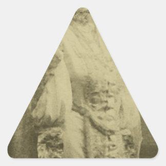 Vintage Wedding Cat Triangle Sticker