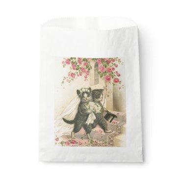 Bride Themed Vintage Wedding Cats, Favor Bag