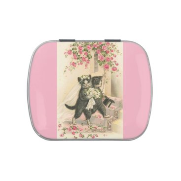 Bride Themed Vintage Wedding Cats, Jelly Belly Candy Tin