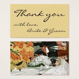 Vintage Wedding Ceremony, Bride Groom Newlyweds Business Card