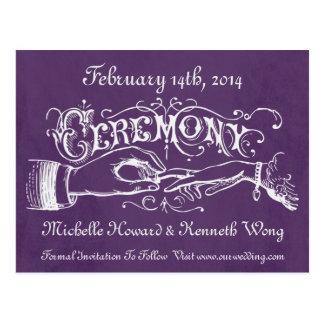 Vintage Wedding Ceremony Chalkboard Post Cards
