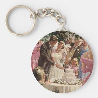 Vintage  Wedding Ceremony Keychain