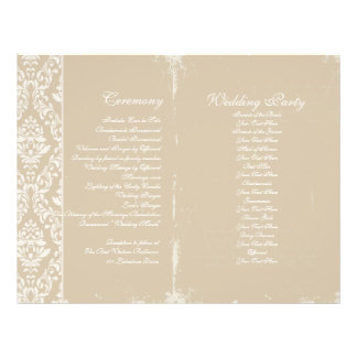 Vintage Wedding Ceremony Program Flyer