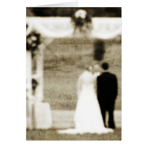 Vintage  Wedding Ceremony Thank You Greeting Card