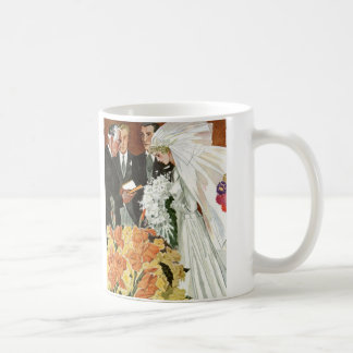 Vintage Wedding Ceremony with Bride and Groom Coffee Mug