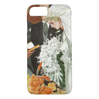 Vintage Wedding Ceremony with Bride and Groom iPhone 8/7 Case