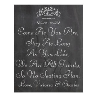 Vintage Wedding Chalkboard Guest Seating Chart