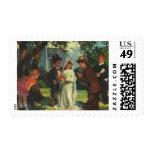Vintage Wedding Child Bride Groom Pretend Ceremony Stamp