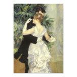 "Vintage Wedding, City Dance by Renoir 5"" X 7"" Invitation Card"