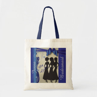 Vintage Wedding Classy Curvy | Sapphire and Silver Tote Bag