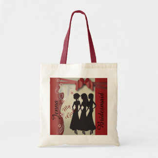 Vintage Wedding Classy Design  | Garnet Red Tote Bag