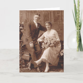 Vintage Wedding Congrats Card
