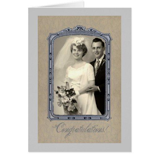 Vintage Wedding Congratulations Greeting Card