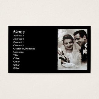 Vintage Wedding Consultant Card