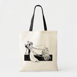 Vintage Wedding Couple Budget Tote Bag