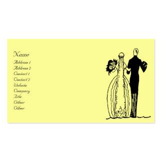 Vintage Wedding Couple Business Card