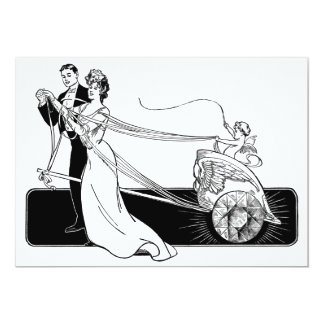 Vintage Wedding Couple Invites