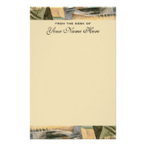 Vintage Wedding, Earth Tones Colors, Cubism Art Stationery