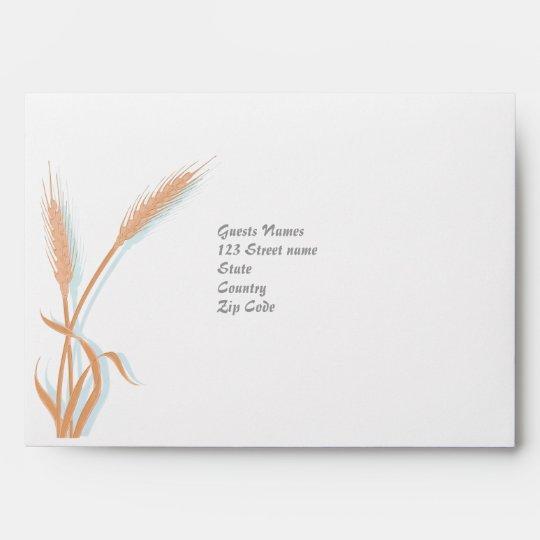 Vintage wedding envelope template Customize