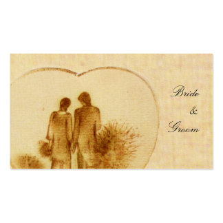 Vintage Wedding Favor Tag Double-Sided Standard Business Cards (Pack Of 100)
