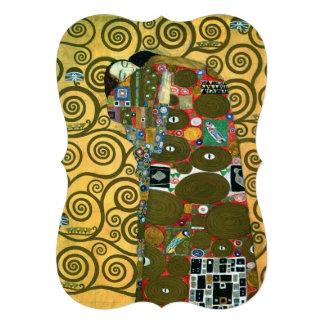 Vintage Wedding Fulfillment The Embrace by Klimt Invitation