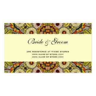 Vintage Wedding, Garden Flowers Floral Butterflies Double-Sided Standard Business Cards (Pack Of 100)