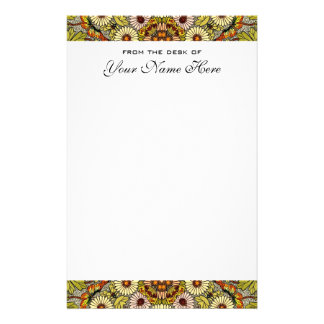 Vintage Wedding, Garden Flowers Floral Butterflies Personalized Stationery