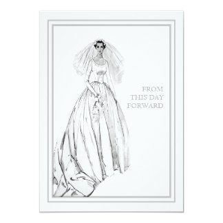 Vintage Wedding Gown From This Day Forward Card