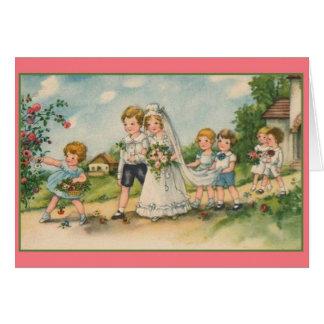 Vintage Wedding Greeting Card Cards