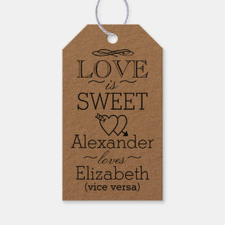 Vintage Wedding Guest Favor Pack Of Gift Tags