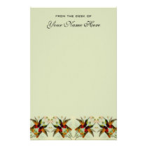 Vintage Wedding, Hummingbirds and Flowers Stationery