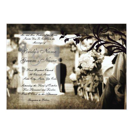 """Vintage Wedding Invitation 5"""" X 7"""" Invitation Card"""