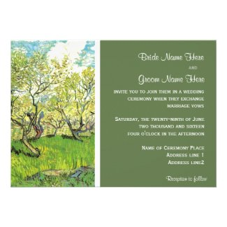 Vintage wedding invitation, Orchard in Blossom