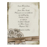 Vintage Wedding Invitation Post Cards