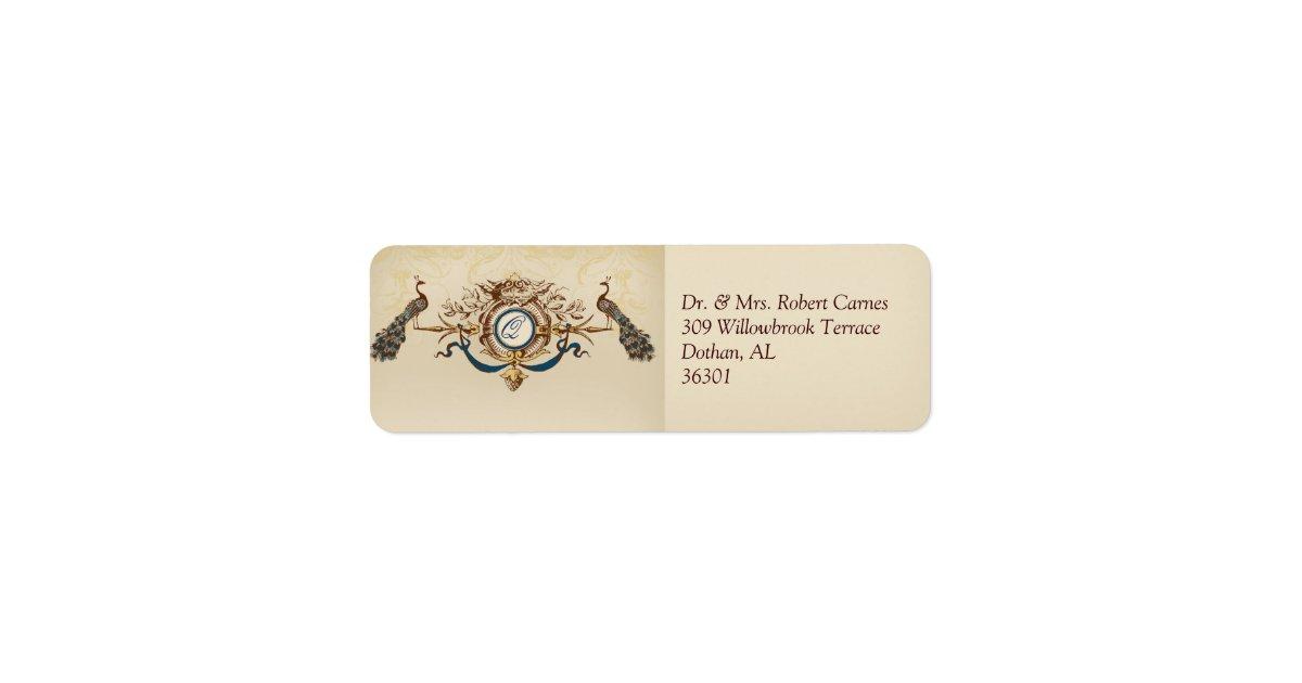 Vintage Wedding Invitation Return Address Labels Zazzle