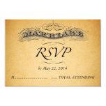 Vintage Wedding Invitation RSVP