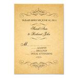 Vintage Wedding Invitation RSVP Swirls Flourish