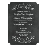 Vintage Wedding Invitations | Chalkboard Flourish