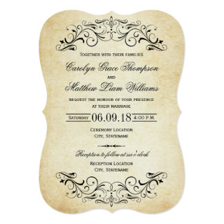 Vintage Wedding Invitations & Announcements | Zazzle