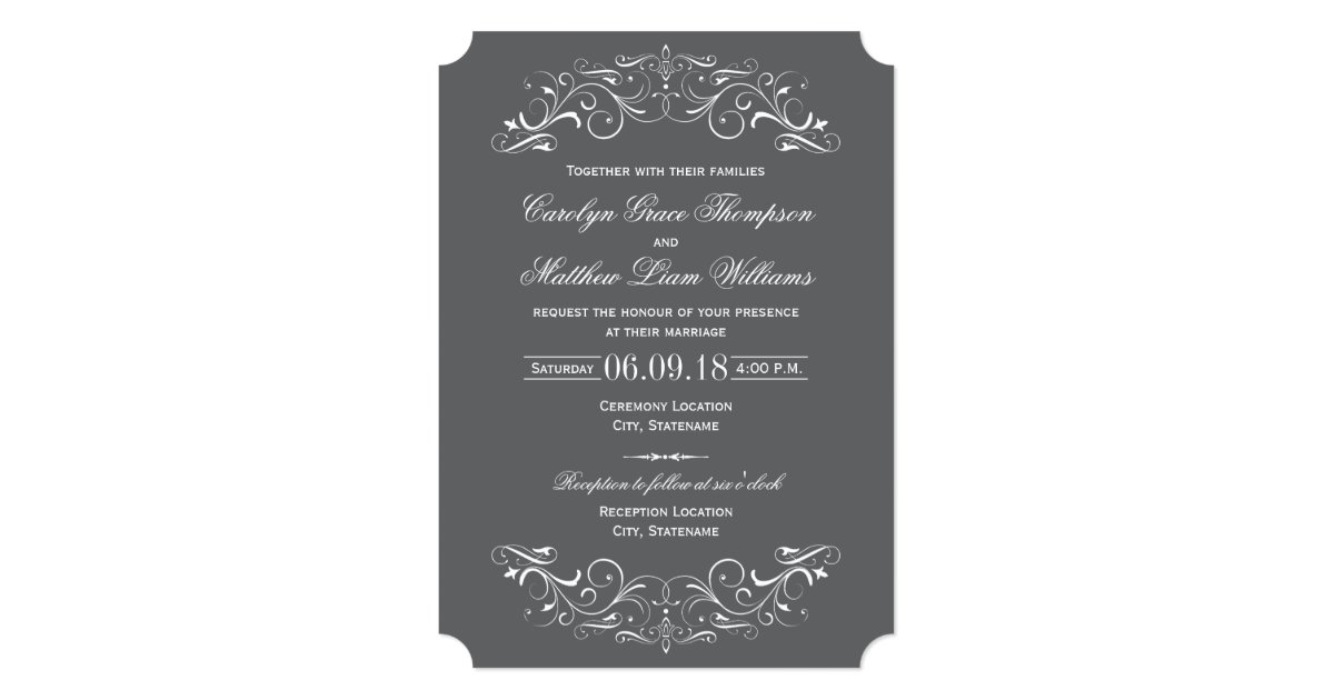 Flourish Wedding Invitations: Vintage Wedding Invitations
