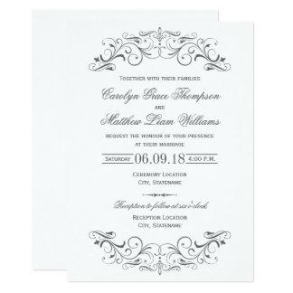 Captivating Vintage Wedding Invitations | Elegant Flourish