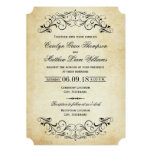 Vintage Wedding Invitations | Elegant Flourish at Zazzle