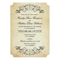 Vintage Wedding Invitations   Elegant Flourish