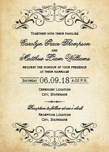 Rustic Vintage Wedding Invitations Zazzle